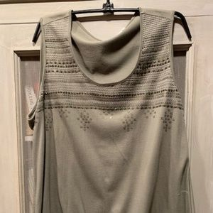 Chico's Sleeveless Embroidered/Sequined Top
